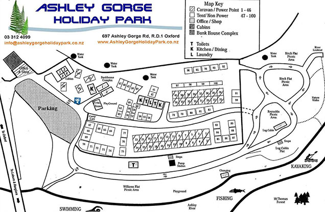 ashley gorge map